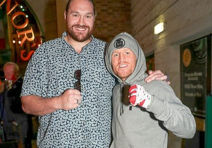 """Apparently, the weight is """"dripping off"""" Tyson Fury as he trains for ring return"""