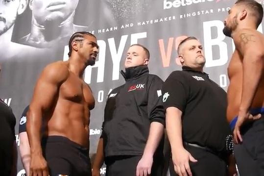 David Haye Tony Bellew Boxing News British Boxing