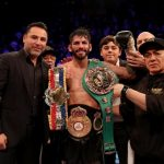 """Anthony Crolla - Jorge """"El Niño de Oro"""" Linares (42-3, 27 KOs) skillfully defeated former champion Anthony """"Million Dollar"""" Crolla (31-6, 15 KOs) to retain his WBA, WBC Diamond and Ring Magazine World Lightweight Championship titles in a 12-round rematch battle that went the distance live from Manchester Arena. Showtime International Boxing will replay Linares vs. Crolla II tonight at 10 p.m. ET/PT on SHO Extreme."""