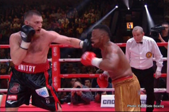 Dmitry Kudryashov - Rewind to November of 2015, and Russian bomber Dmitry Kudryashov was an unbeaten 18-0(18) cruiserweight destroyer who had, well, destroyed everyone and anyone in his path. Going up against Nigeria's tough and hungry Olanrewaju Durodola in his homeland, Kudryashov was shocked to second round stoppage defeat.