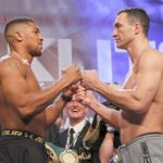 Anthony Joshua, Wladimir Klitschko - The weights are in for tomorrow night's huge heavyweight title clash between Anthony Joshua and Wladimir Klitschko, and both men look to be in absolutely fantastic physical condition. This of course is no surprise, but it might have come as a little bit of a surprise that Joshua tipped in at 250 pounds, the heaviest yet of his 18 fight pro career.