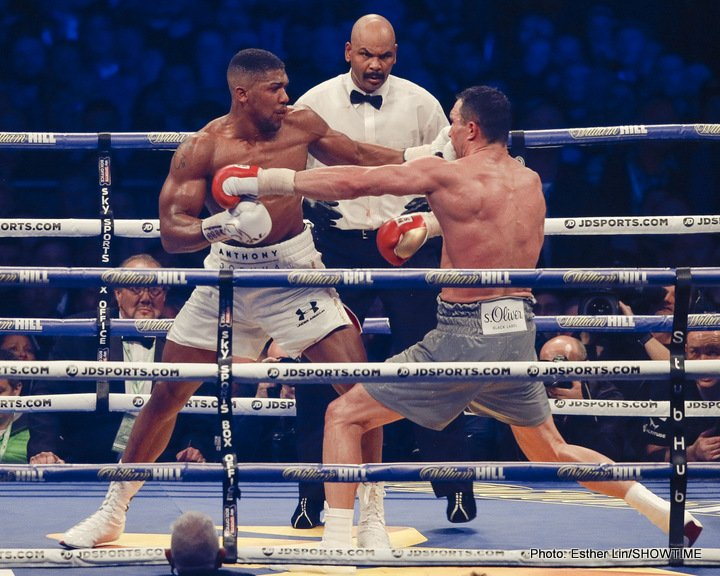 Anthony Joshua Wladimir Klitschko Boxing News Boxing Results Top Stories Boxing