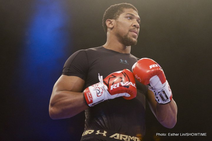 Anthony Joshua Carlos Takam Boxing Interviews Boxing News