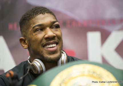 """Anthony Joshua is """"boxing's biggest star;"""" who would you prefer to see him fight next: Klitschko, Wilder or Fury?"""