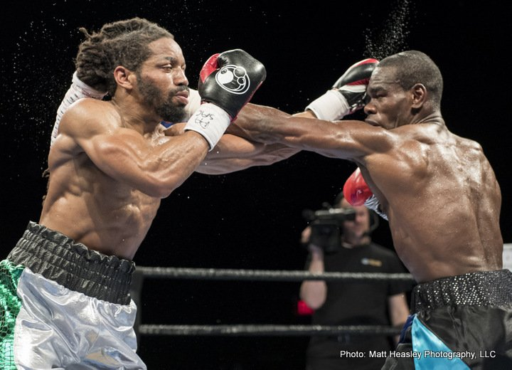 Omar Douglas - Former title challenger Edner Cherry (36-7-2, 19 KOs) won a competitive decision over Omar Douglas (17-2, 12 KOS) in the main event of Premier Boxing Champions TOE-TO-TOE TUESDAYS on FS1 and BOXEO DE CAMPEONES on FOX Deportes Tuesday night from Sands Bethlehem Events Center in Bethlehem, Pa.