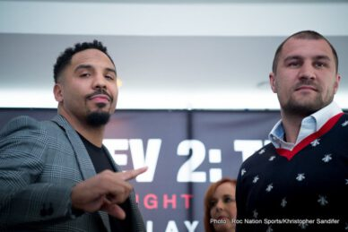 """Andre Ward, Sergey Kovalev - On Monday at Le Parker Meridien in New York City, Unified Light Heavyweight World Champion Andre """"SOG"""" Ward (31-0, 15 KOs) and former Unified Light Heavyweight World Champion Sergey """"Krusher"""" Kovalev (30-1-1, 26 KOs) formally addressed the media on their highly-anticipated rematch on Saturday, June 17 at the Mandalay Bay Events Center in Las Vegas. The championship event, presented by Corona Extra, will be produced and distributed live by HBO Pay-Per-View® beginning at 9:00 p.m. ET/6:00 p.m. PT."""
