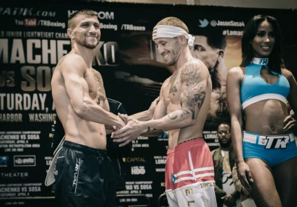In Pictures: Official Weigh-In Results – Lomachenko (129.6) vs.  Sosa (130.4, 130.2)