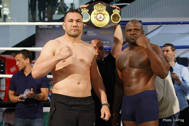Kubrat Pulev - Kubrat Pulev (24-1, 13 KOs) and Kevin Johnson (30-7-1, 14 KOs) both weighed in today ahead of their WBA Intercontinental Heavyweight Championship clash at the Arena Armeec in Sofia, Bulgaria, as did all the undercard fighters for tomorrow's event.