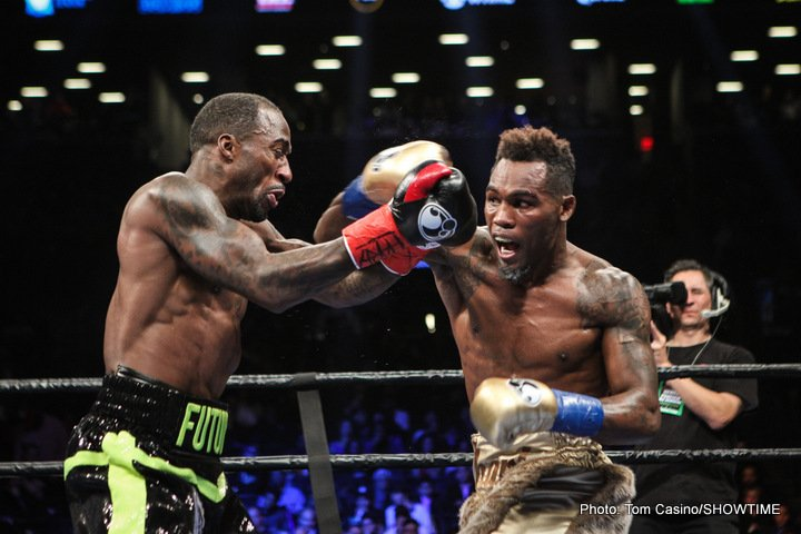 Charles Hatley, Jermell Charlo - Jermell Charlo defended his WBC Super Welterweight World Championship in dominant fashion with a devastating sixth-round knockout of mandatory challenger Charles Hatley in the co-main event of SHOWTIME CHAMPIONSHIP BOXING.