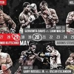 Anthony Joshua -  SHOWTIME Sports has unveiled the network's complete spring 2017 boxing schedule following today's earlier announcement that the heavyweight boxing event of the year will be televised live on SHOWTIME.  The stacked lineup includes seven world championship fights across eight live boxing telecasts over an eight-week span.