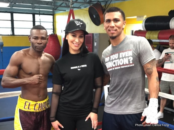 Guillermo Rigondeaux & Luis Arias Miami Media Workout Photos & Quotes