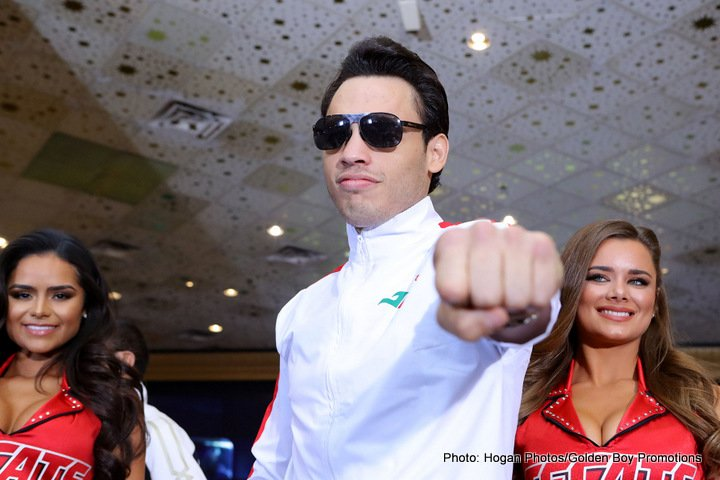 "Julio Cesar Chavez Jr., Saul ""Canelo"" Alvarez -  Former Two-Division World Champion Canelo Alvarez (48-1-1, 34 KOs) and former WBC Middleweight World Champion Julio Cesar Chavez, Jr. (50-2-1, 32 KOs) made their grand arrivals today at the MGM Grand Hotel and Casino in Las Vegas ahead of their highly anticipated clash on May 6 at T-Mobile Arena, produced and distributed live by HBO Pay-Per-View® beginning at 9:00 p.m. ET/6:00 p.m. PT."