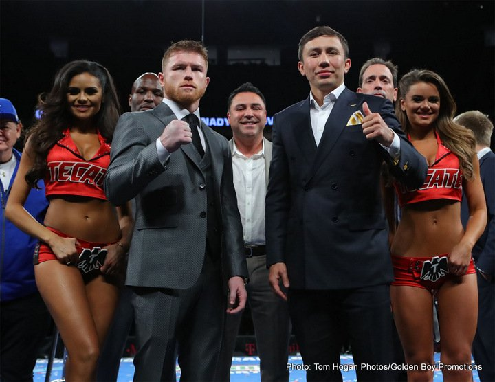 """Gennady Golovkin, Saul """"Canelo"""" Alvarez - Tickets for the Saturday, Sept. 16 showdown for supremacy between lineal and RING Magazine Middleweight World Champion Canelo Alvarez (49-1-1, 34 KOs) and IBO/IBF/WBA/WBC Middleweight World Champion Gennady """"GGG"""" Golovkin (37-0, 33 KOs), for which fans have been clamoring, will go on sale Thursday, June 22 at 10:00 a.m. PT / 1:00 p.m. ET.  In what may be boxing's best, most competitive fight in 2017, the mega-event will feature two of the most popular and powerful fighters in the storied middleweight division fighting for ultimate supremacy and glory."""