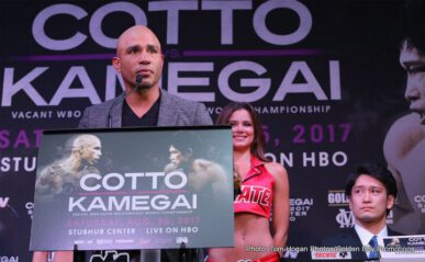 Miguel Cotto, Yoshihiro Kamegai -     Summer sizzles when WORLD CHAMPIONSHIP BOXING: MIGUEL COTTO VS. YOSHIHIRO KAMEGAI AND REY VARGAS VS RONNY RIOS is seen SATURDAY, AUG. 26 at 9:45 p.m. (live ET/tape-delayed PT) from StubHub Center in Carson, Cal., exclusively on HBO. The HBO Sports team will call the action, which will be available in HDTV, closed-captioned for the hearing-impaired and presented in Spanish on HBO Latino.