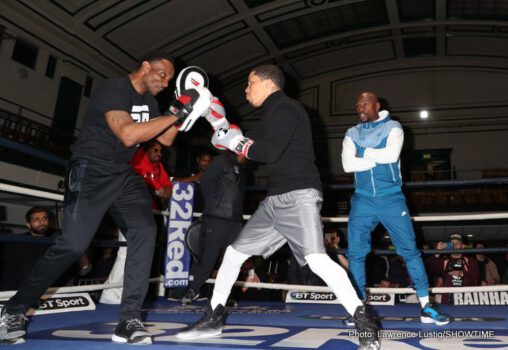 Gervonta Davis, Liam Walsh - IBF Junior Lightweight World Champion Gervonta Davis, undefeated No. 1 contender Liam Walsh and promoter Floyd Mayweather got into a jarring session during Thursday's final press conference at Landmark Hotel in London just two days before Saturday's world title clash on SHOWTIME from Copper Box Arena.