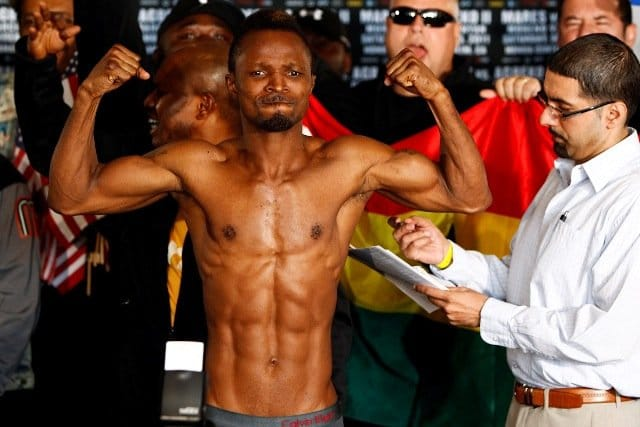 Joseph Agbeko - Former 2-time IBF Bantamweight champion of the world, Joseph King Kong Agbeko (31-5, 23 KOs) makes a return to the ring again next month when he takes on experienced Kenyan slugger, Nick Otieno (31-11, 13 KOs) at the Bukom Boxing Arena in Accra as part of Ghana's 60th independence anniversary celebrations.