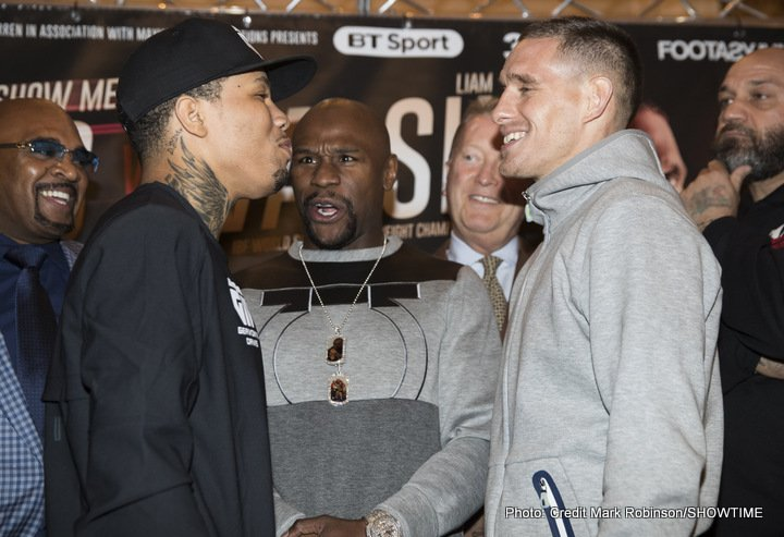 Liam Walsh - IBF Junior Lightweight World Champion Gervonta Davis, undefeated No. 1 contender Liam Walsh and promoter Floyd Mayweather got into a jarring session during Thursday's final press conference at Landmark Hotel in London just two days before Saturday's world title clash on SHOWTIME from Copper Box Arena.