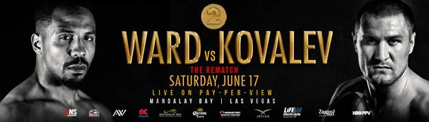 """Arif Magomedov, Dmitry Bivol, Luis Arias, Sergey Kovalev - Roc Nation Sports and Main Events are pleased to announce the addition of four non-televised and two free-view fights, featuring a talented slate of ones to watch, to the undercard of Andre Ward vs. Sergey Kovalev 2: """"The Rematch"""" on Saturday, June 17 at the Mandalay Bay Events Center in Las Vegas. The championship event featuring the highly anticipated main event and a full undercard, presented by Corona Extra, will be produced and distributed live by HBO Pay-Per-View® beginning at 9:00 p.m. ET/6:00 p.m. PT."""