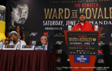 "Andre Ward, Sergey Kovalev - While the recently confirmed Floyd Mayweather-Conor McGregor ""Super-Fight,"" ""Freak Show,"" or whatever you choose to call it, has seemingly snatched more than its share of attention; boxing fans remain fully interested in tomorrow night's rematch between Andre Ward and Sergey Kovalev."