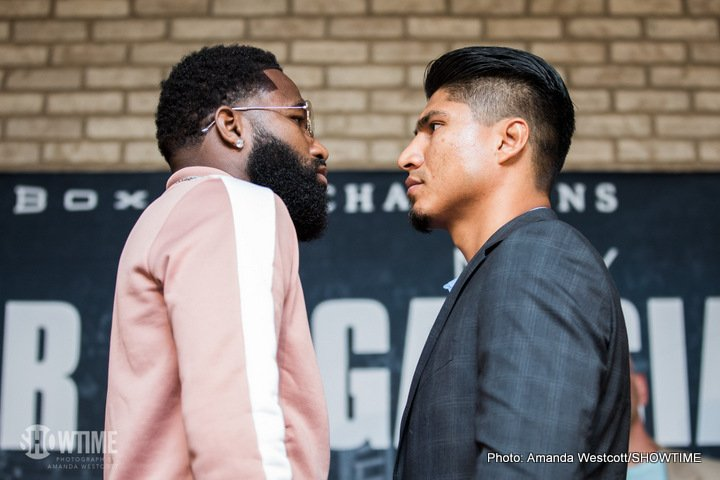 Adrien Broner, Mikey Garcia - Four-division world champion Adrien Broner has taken a unique approach as he prepares to face undefeated three-division titlist Mikey Garcia this Saturday, July 29 live on SHOWTIME (9 p.m. ET/6 p.m. PT).  One of only 16 four-division champions in boxing history, the outspoken Broner is practicing yoga in his Colorado Springs-based camp as he attempts to minimize the distractions and focus on perhaps the biggest fight of his career.