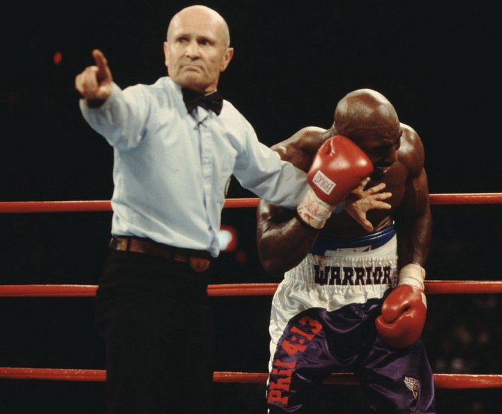 """Evander Holyfield, Mike Tyson - Dubbed, for obvious reasons, """"The Bite Fight,"""" the return meeting between Evander Holyfield and Mike Tyson shocked the entire world like no other boxing match in history. Or rather it was the events in the third round, and the subsequent events that followed, that caused the enormous shock."""