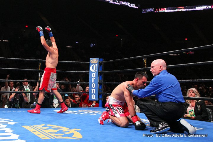 Omar Figueroa Jr., Robert Guerrero - Unbeaten Omar Figueroa (27-0-1, 19 KOs) returned to the ring in emphatic fashion with a third-round stoppage of former champion Robert Guerrero (33-6-1, 18 KOs) in the main event of Premier Boxing Champions on FOX and FOX Deportes Saturday night from the newly-renovated NYCB LIVE, home of the Nassau Veterans Memorial Coliseum. The show was the first major boxing event to take place at the Coliseum in 31 years.