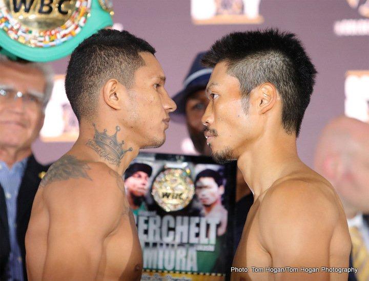 Berchelt vs Miura, Barrera vs Smith Jr. Weigh-In Results
