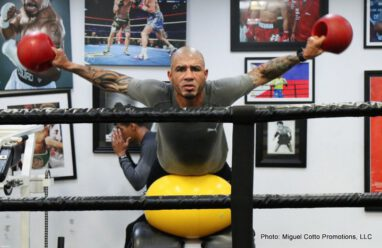 "Miguel Cotto, Yoshihiro ""El Maestrito"" Kamegai - World renowned trainer Freddie Roach shared important details regarding the training camp of Miguel Cotto (40-5, 33 KOs), the only Puerto Rican boxer to ever win world titles in four divisions, as he prepares to go to war for the vacant WBO Junior Middleweight title against the Japanese slugger Yoshihiro ""El Maestrito"" Kamegai (27-3-2, 24 KOs). Cotto will attempt to obtain a sixth world title in four divisions and will appear on HBO for an astounding 23rd time. The event takes place Saturday, August 26 at the StubHub Center in Carson, California and will be televised live on HBO World Championship Boxing® beginning at 9:45 p.m. ET/PT."