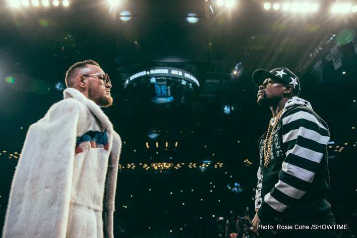 Conor McGregor, Floyd Mayweather Jr - Can Conor shock the world?  We'll all find out August 26th live from the T-Mobile Arena in the fight capital of the world, Las Vegas, Nevada.  Without further ado, I turn the call over to your questions for the notorious Conor McGregor.