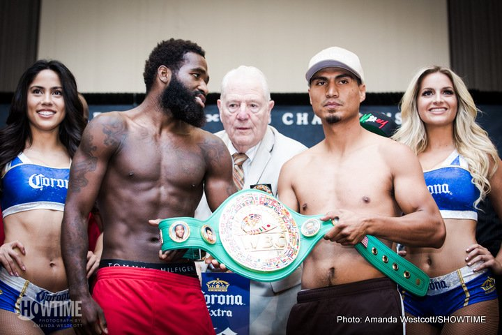 "Adrien Broner, Mikey Garcia - The only thing close to a blemish on the 36-0 record of Mikey Garcia came in his 2013 technical decision win over ultra-tough Mexican warrior Orlando Salido. Then fighting down at featherweight and challenging Salido for the WBO belt, Garcia knocked Salido down four times, before ""Siri"" came back, and then came on."