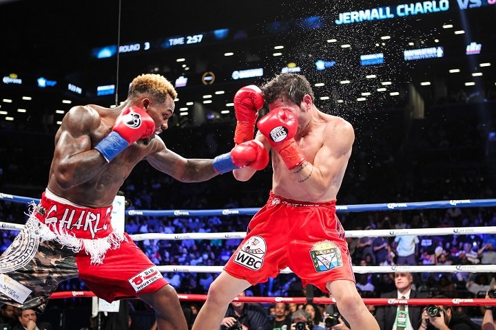 "Gerald Washington, Jarrell Miller, Jermall Charlo, Jorge Sebastian Heiland - #2 WBC middleweight contender Jermall Charlo (26-0, 20 KOs) took advantage of a badly injured Jorge Sebastian Heiland (29-5-2, 16 KOs) to knock him down 2 times and stop him in the 4th round on Saturday night to become the mandatory challenger to WBC champion Gennady ""GGG"" Golovkin at the Barclays Center in Brooklyn, New York."