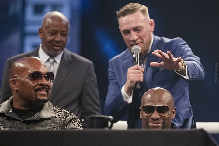 Conor McGregor - Four days of a contentious international world tour came to a fitting close on Friday when global superstars Floyd Mayweather and Conor McGregor faced off for the final time on their three-country excursion at London's Wembley Arena.