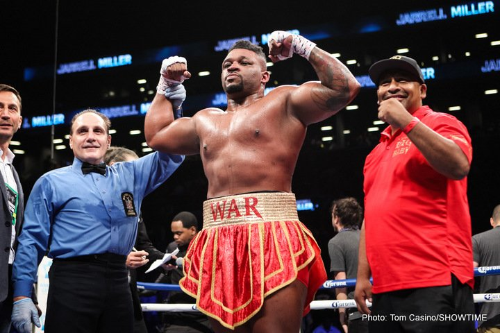 "Gerald Washington - Headlining the ""SHOWTIME CHAMPIONSHIP BOXING Prelims"" on Facebook Live, heavyweight Jarrell Miller (19-0-1, 17 KOs), of Brooklyn, N.Y., stopped former world title challenger Gerald Washington (18-2-1, 12 KOs) after eight-rounds."