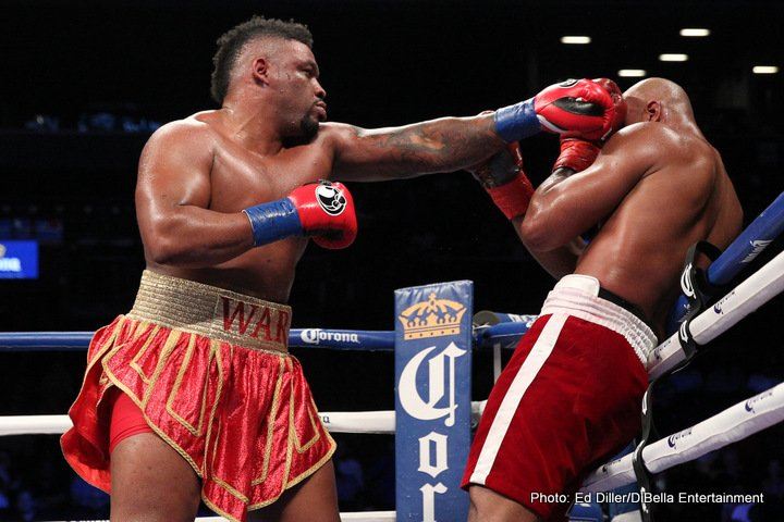"""Jarrell Miller - """"Just think, George Foreman would be a small heavyweight today,"""" Showtime's Steve Farhood."""