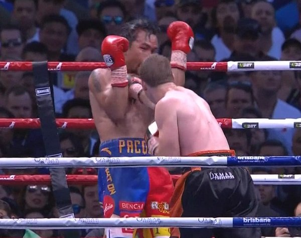 "Manny ""Pac Man"" Pacquiao got robbed in the worst decision-of-the-year as he somehow, inexplicably lost a twelve-round unanimous decision to Jeff ""The Hornet"" Horn, as judges Waleska Roldan, Chris Flores, and Ramon Cerdan, all rendered terrible scorecards, 117-111 and two score of 115-113 for Horn, despite the fact that Pacquiao out landed Horn in eleven of the twelve rounds, dominated every punch statistic, and almost stopped him in the ninth-round, while Horn connected on a mere seven punches per round."
