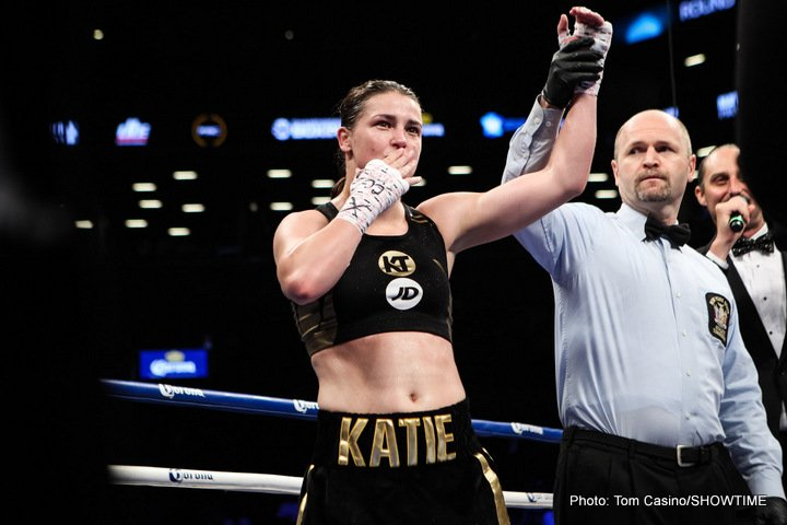 Jessica McCaskill - SHOWTIME Sports will deliver live coverage of women's boxing sensation Katie Taylor's first defense of her WBA World Lightweight Title against Jessica McCaskill Wednesday on social platforms. The full eight-fight card from York Hall in London will be available for free exclusive to the U.S audience  beginning at 1 p.m. ET/10 a.m. PT.