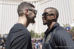 Badou Jack, Conor McGregor, Floyd Mayweather, Nathan Cleverly - Floyd Mayweather and Conor McGregor official kicked off fight week events Tuesday with grand arrivals at the Toshiba Plaza ahead of the SHOWTIME PPV event this Saturday, Aug. 26 taking place at T-Mobile Arena in Las Vegas.
