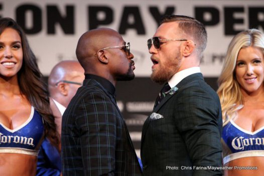 Conor McGregor, Floyd Mayweather Jr - Fight week for the biggest event in combat sports history continued Wednesday as Floyd Mayweather and Conor McGregor squared off at the final press conference ahead of the SHOWTIME PPV matchup this Saturday, Aug. 26 from T-Mobile Arena in Las Vegas.