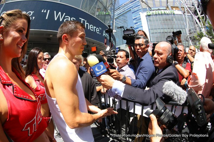 "Gennady ""GGG"" Golovkin, Saul ""Canelo"" Alvarez - In just two over two weeks, Golden Boy Promotions, GGG Promotions and Fathom Events will present ""Canelo vs. Golovkin: Supremacy"" in select movie theaters nationwide. This live broadcast of the Canelo Alvarez vs. Gennady ""GGG"" Golovkin epic mega-fight follows Fathom Events' knockout presentation of Mayweather vs. McGregor, which grossed more than $2.6 million in cinemas. Fight fans should plan to be at their local movie theater on Saturday, September 16 at 8:00 p.m. ET/ 7:00 p.m. CT/ 6:00 p.m. MT/ 5:00 p.m. PT/ 4:00 p.m. AK / 3:00 p.m. HI to catch all the larger-than-life pulse-pounding action from the sold out T-Mobile Arena in Las Vegas."
