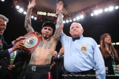 "Miguel Cotto, Yoshihiro ""El Maestrito"" Kamegai - Miguel Cotto (41-5, 33 KOs), the only four-division world champion in Puerto Rico's rich boxing history, earned his sixth world title with a unanimous decision victory against the Japanese slugger Yoshihiro ""El Maestrito"" Kamegai (27-4-2, 24 KOs) for the vacant WBO Junior Middleweight World Title in front of a sold-out crowd of 7,689 boxing fans at the StubHub Center in Carson, Calif. The judges scored the bout 119-109, 118-110, and 120-108 in favor of Cotto."