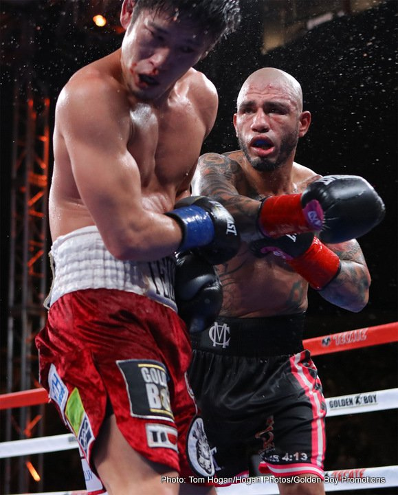 """Miguel Cotto, Yoshihiro """"El Maestrito"""" Kamegai - Though it flew far lower under the radar than any fight involving the great Miguel Cotto should have done – overshadowed as it was by the Las Vegas extravaganza that was the surprisingly competitive Mayweather-McGregor fight – Cotto's fight last night, against tough Japanese warrior Yoshihiro Kamegai, was of interest to some."""