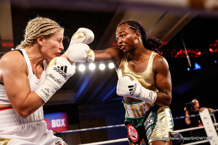 Nikki Adler - In a dominating and emphatic performance, hometown favorite Claressa Shields captured the WBC and IBF Super Middleweight World Championships in just her fourth professional fight Friday night on ShoBox: The New Generation live on SHOWTIME at MGM Grand Detroit.