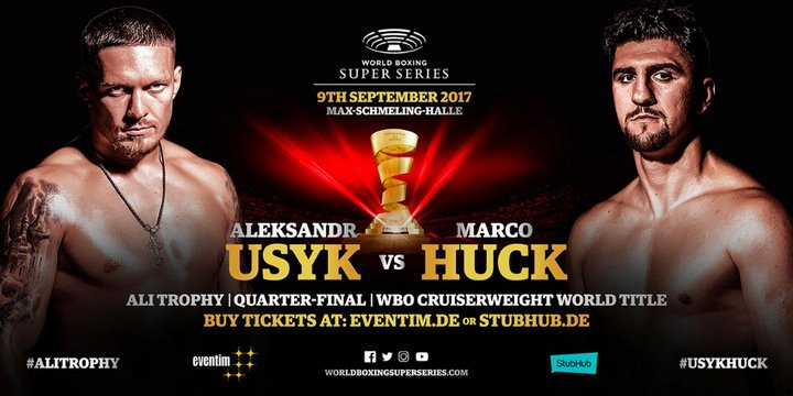 Oleksandr Usyk - Marco Huck met the German press in his hometown Berlin at the famous Restaurant Borchardt ahead of his Ali Trophy quarter-final with Ukranian Aleksandr Usyk September 9 at the Max-Schmeling-Halle, Berlin.