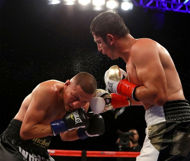 "Jesus Soto Karass - Keeping true to its promise of an all-out crossroads war as the main event on Golden Boy Boxing on ESPN at Fantasy Springs Resort Casino, Mexican welterweight warriors Mauricio ""El Maestro"" Herrera (24-7, 7 KOs) of Riverside, Calif. and Jesus ""Renuente"" Soto Karass (28-12-4, 18 KOs) of Los Mochis, Mexico sacrificed their souls in a fight where the closing tenth-round will make for a strong ""Round of the Year"" contender."
