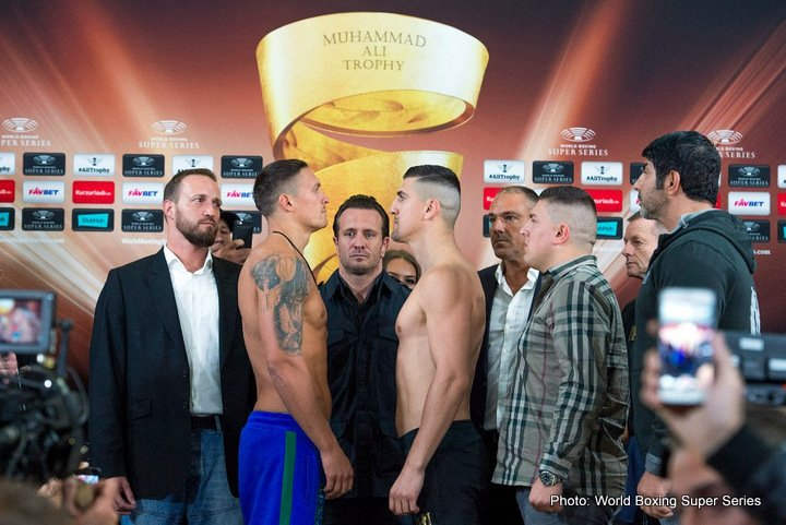 Marco Huck - Aleksandr Usyk or Marco Huck? That's the question before Saturday's premiere of the World Boxing Super Series and the quest for the Ali Trophy at the Max-Schmeling-Halle, Berlin. Gassiev, Perez, Briedis, Kudryashov, Dorticos and Wlodarczyk give their predictions ahead of the hotly anticipated fight.