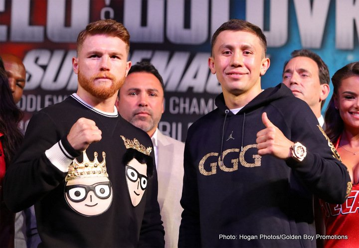 Canelo Alvarez, Gennady Golovkin, Oscar De La Hoya - Fight fans got excited today, as news broke suggesting strongly how a return fight between middleweight rivals Gennady Golovkin and Canelo Alvarez was all but a done deal for May 5 – with just a few minor items to be settled (such as the venue for the bout) before the fight we all want to see (again) would be announced to the world.