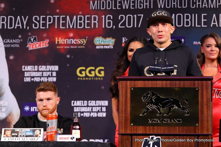 "Gennady Golovkin, Saul ""Canelo"" Alvarez -  The long wait for one of the biggest and most anticipated boxing fights-of-the-year, that was three years in the making, is finally here as IBO/WBA/WBC/IBF middleweight belt holder Gennady ""GGG"" Golovkin (37-0, 33 KOs) squares off against two-division, and current lineal and Ring Magazine champion Saul ""Canelo"" Alvarez (49-1-1, 34 KOs) on Saturday September 16th, to determine once and for all, who is the better fighter. Their bout will be televised on HBO pay-per-view from the T-Mobile Arena in Las Vegas, Nevada."