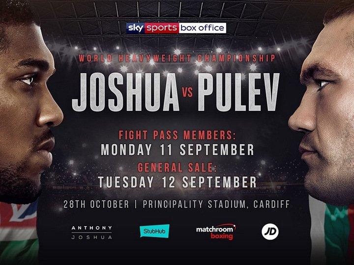 Kubrat Pulev - With the majority of fans pretty much expecting IBF/WBA heavyweight champ Anthony Joshua to win in commanding fashion when he meets Kubrat Pulev in Cardiff on October 28, the event is in need of a solid under-card. And one is currently shaping up.