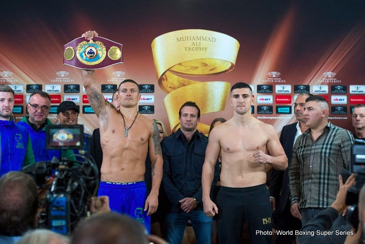 Marco Huck - Ukrainian Aleksandr Usyk (90,5 kg) and German Marko Huck (90,2 kg) are ready for Saturday's premiere of the World Boxing Super Series and the quest for the Ali Trophy at the Max-Schmeling-Halle, Berlin.