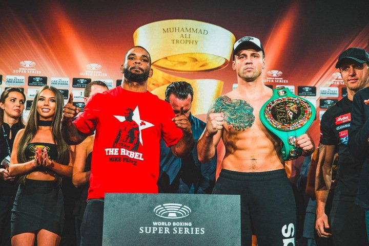 "Mike Perez - WBC Champion Mairis Briedis (90,1 kg) (22-0, 18 KOs) and Mike Perez (22-2-1, 14 KOs) (89,5 kg) are ready for Saturday's Ali Trophy quarter-final at the Arena Riga, Latvia. ""I can't wait for tomorrow,"" said Briedis, the WBC champion who was supported by a loud crowd of Latvian countrymen at Friday's weigh-in Riga."